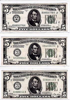 (30) 1928 & 1928A $5, $10, & $20 Federal Reserve Numeral Notes (Get All 30!)