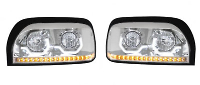 Chrome Freightliner Century Projection Headlight - Driver and Passenger