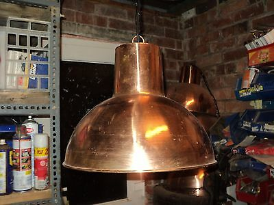 solid copper pendant lamp