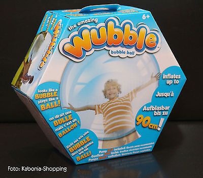 The Amazing Wubble Bubble 90 cm Ball Seifenblase blau Blase Aufblasbar Vivid