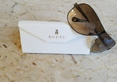 New Gucci Kids' Shield 5500 GKECC Olive Green Sunglasses Gift For Kids