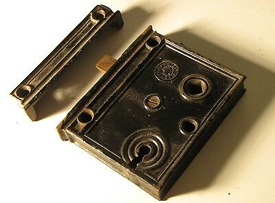 FLAT FACE ATTACH MORTISE ASSEMBLY VICTORIAN CAST IRON antique hardware CANTRELL