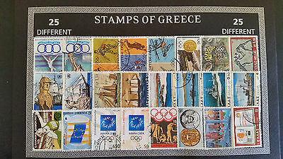 Greece Greek Stamp Collection set with 25 Different Stamps