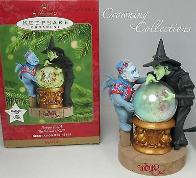 2001 Hallmark Poppy Field Ornament The Wizard of Oz Wicked Witch of West MAGIC