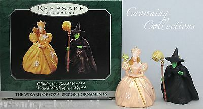 1998 Hallmark Glinda the Good and Wicked Witch West Ornament The Wizard of Oz &