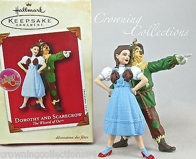 2002 Hallmark Dorothy and Scarecrow Keepsake Ornament The Wizard of Oz MIB HTF