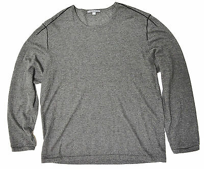 Men's John Varvatos 100% Cashmere Grey Long Sleeve 2XL Slimfit Shirt New SALE!