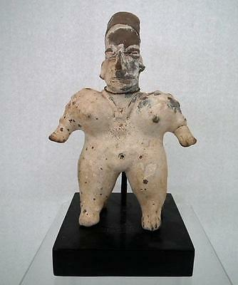 Antique Pre-Columbian Jalisco Polychrome Ceramic Female Figure 200 B.C.-200 A.D.