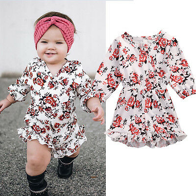 AU Stock Summer Baby Toddler Girls Kids Clothes Romper Jumpsuit Outfits Sunsuits