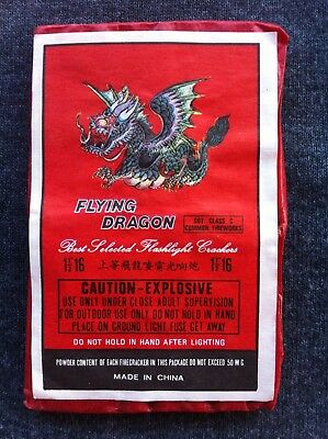 Flying Dragon Brand Firecracker Pack Label (DOT) Made in China