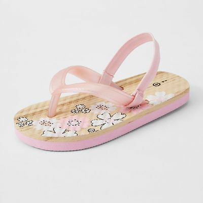 NEW Kiddy Infant Woodgrain Thongs Kids