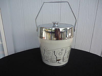 vintage art deco lady  retro large ice bucket magnum size mid century eames era