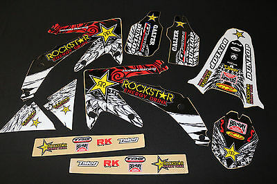 Honda Crf450R 2005-2008 Flu Rockstar Mx Graphics Decals Kit Stickers Kit