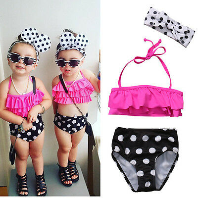 AU Stock Toddler Kid Baby Girl Swimsuit Swimwear Bathing Suit Tankini Bikini Set