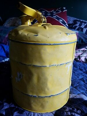 Vintage Metal Gas can Yellow Eagle?