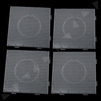 4PCS Large Pegboards for Perler Bead Hama Fuse Beads Clear Square Design Board
