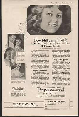 1919 Pepsodent Tooth Paste Health Dental Hygiene William Price Science 21335