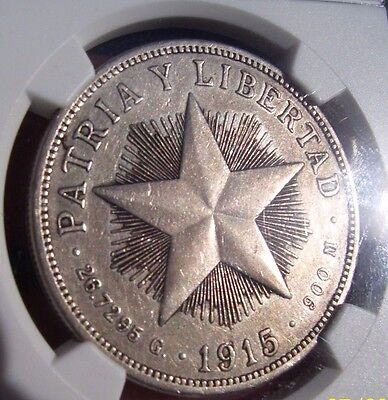 1915 Silver Peso ~ HIGH RELIEF Struck in the United States VERY SCARCE
