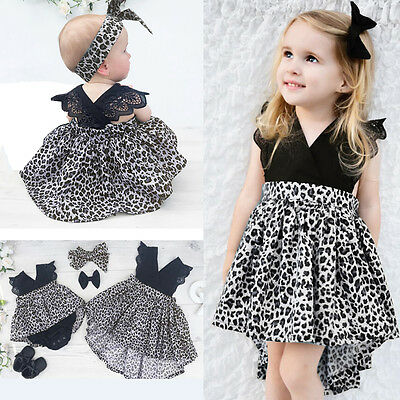 AU Stock Kid Baby Girls Princess Pageant Wedding Party Flower Tulle Tutu Dresses