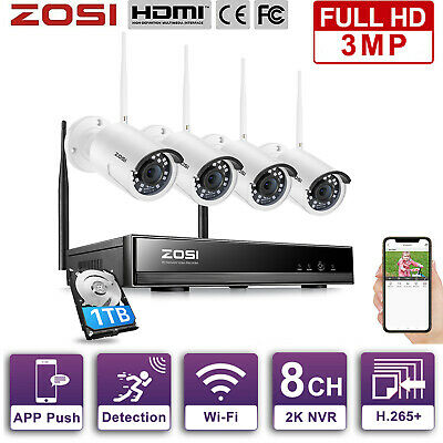 ZOSI 960P 1080P Wireless IP Camera Security Video Surveillance WIFI NVR System
