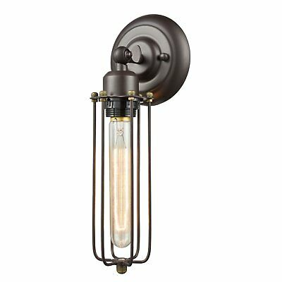 Wall Lamp Light Wire Caged Vintage Sconce Industrial Edison Fixture Steam Punk