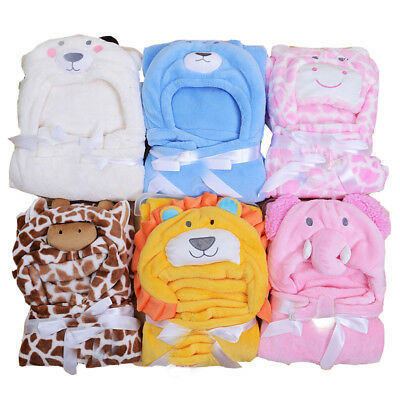 NEW Baby Boy Girl Hooded Receiving Blanket Soft n Light, Perfect for Gift