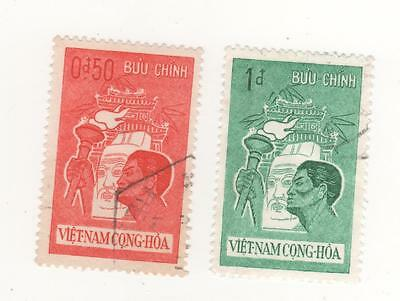 1961 South VIETNAM YOUTH MORAL REARMAMENT -  Man with TORCH x 2  to 1p. USED