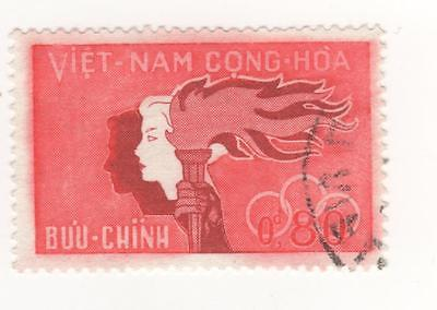 1961 South VIETNAM 80c. mauve & red SPORTS & YOUTH stamp SG#S144 USED