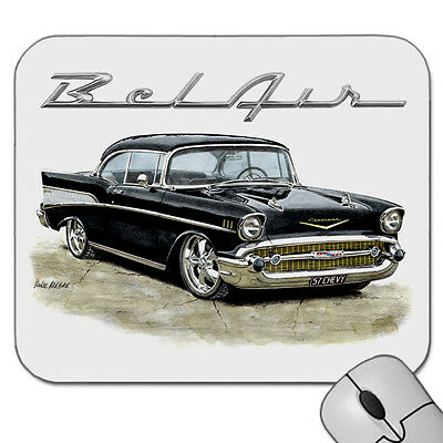 1957   Chevy  Bel Air   Coupe  Chevrolet      Mouse Pad