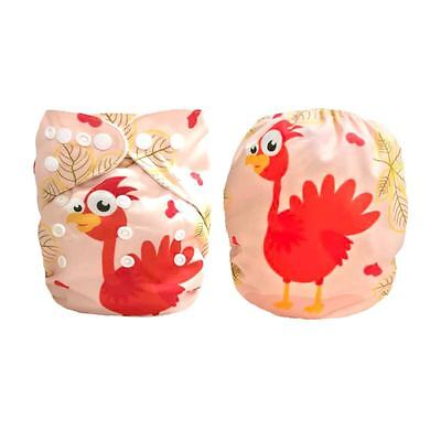 Baby Cloth Diaper Nappy Reusable Washable Pocket Microfleece Thanksgiving Turkey