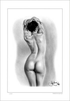 Nude Female  Study  ' Bare Elegance '     Drawing          Limited Edition