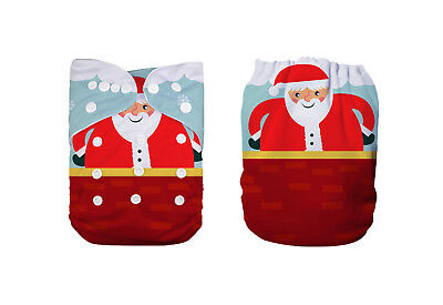 1 Baby Cloth Diaper Nappy Reusable Washable Pocket Christmas Gift Santa Claus