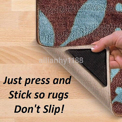 4+4 Rug Carpet Mat Grippers Non Slip Anti-skid Washable Reusable Grips Pads AU