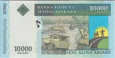 10000 ARIARY BANKNOTE Madagascar Malagasy bill note paper money