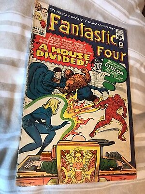 Silver Age Fantastic Four #34 Cents Copy - Jack Kirby Artwork