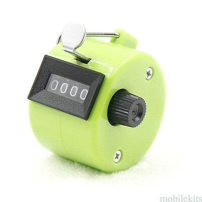 Hand Held Tally Counter Manual Counting 4 Digit Number Golf Clicker Portable