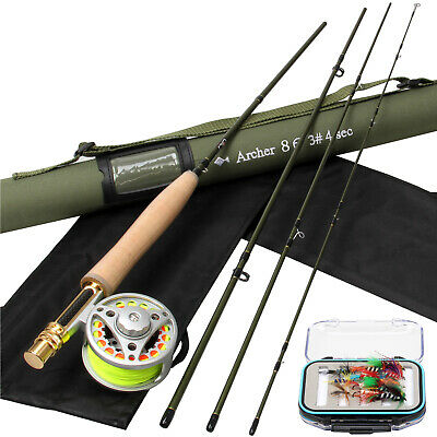 Fly Fishing Combo 3WT Carbon Fiber Fly Rod 3/4 WT Fly Fishing Reel Leader Line