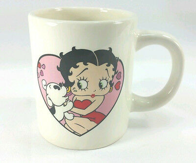 Betty Boop Coffee Mug Pudgy Puppy Kisses Tea Cup 2007 Collectable Rare