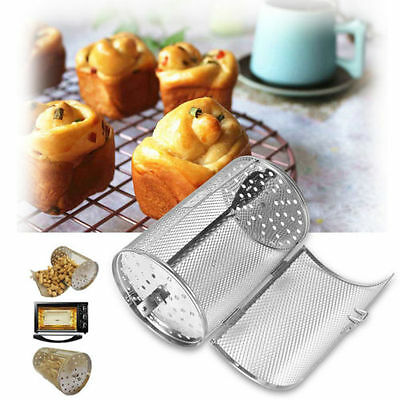 New Stainless Steel Coffee Beans Peanut Grill Roaster Drum Oven Baking Sliver