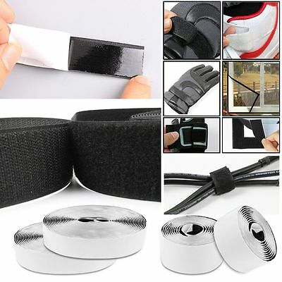 20 30 50 100mm Heavy Duty Self Adhesive Tape Sticky Back Hook And Loop Fastening