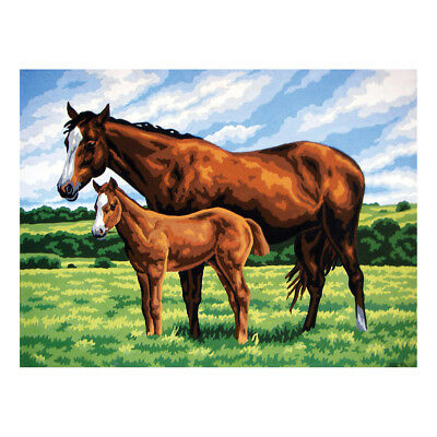 COLLECTION D'ART | Printed Canvas: Mare with Foal |CD10423