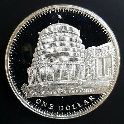 1978 New Zealand $1 (Beehive Dollar) Sterling Silver Proof Coin....