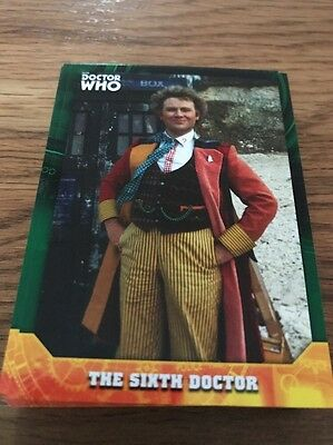 Topps Dr Who Signature Series The Sixth Doctor 22/50 Green Parallel Card #6