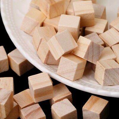 10/20/25mm Decor Handmade Square Wooden Bead Handcrafts DIY Crafts Cube Blocks