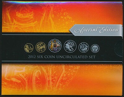 Australia 2012 Uncirculated Set with Coloured 50c Highly Sought After !!!