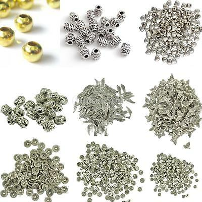 20/50/100pcs Charms Loose Spacer Beads DIY Necklace Earrings Jewelry Making