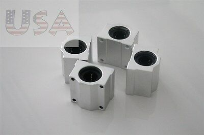 SC10UU SCS10UU 10mm (4 PCS) Linear Ball Bearing Pillow Block Linear Unit FOR CNC