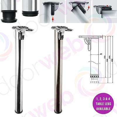ADJUSTABLE FOLDING TABLE LEGS Kitchen Worktop Breakfast Bar Metal Support Leg