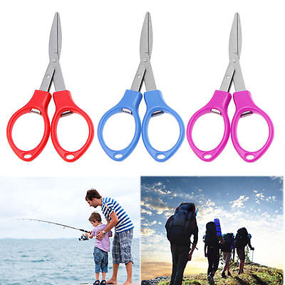 Stainless Steel Folding Scissors Fishing Scissor Keychain Camping Mini Cutter