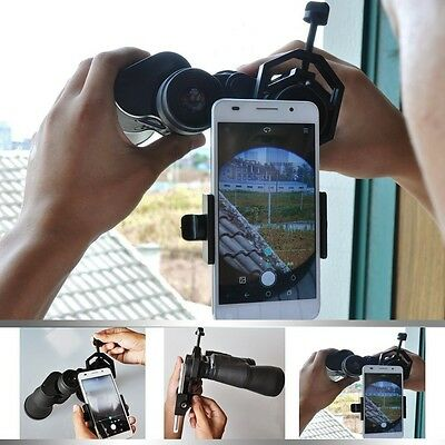 Universal Cell Phone Holder Mount Adapter Compatible W/ Binocular Spotting Scope